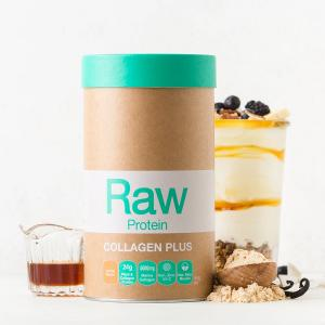Raw Organic Collagen Protein Plus Vanilla and Maple 450g | Gluten Free No Added Sugar | Amazonia