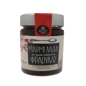 Μαρμελάδα Φράουλα με Μοσχολέμονο 235g - Pella's Delicacies