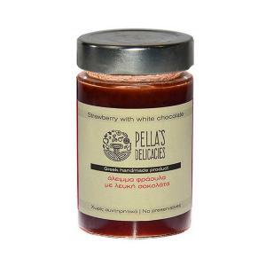 Άλειμμα Φράουλα με Λευκή Σοκολάτα 230g - Pella's Delicacies