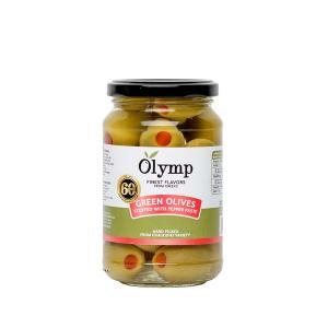 Πράσινες Ελιές Γεμιστές με Φυσική Πιπεριά 200g - Olymp