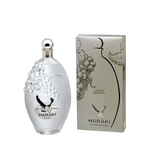 Tsikoudia, embossing glass bottle 500ml - Tsikoudia Haraki