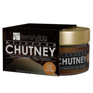Chutney Μανιτάρι Πλευρώτους με Τσίλι, Κάρυ & Πορτοκάλι 160g - Terra Fyllida