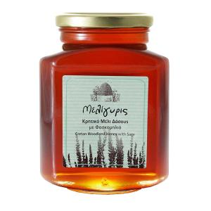 Cretan Woodland Honey with Sage 800g - Meligyris