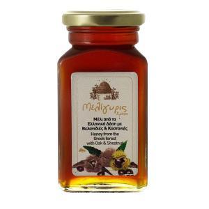 Ελληνικό Μέλι Βελανιδιάς Καστανιάς | Φυσικό Άθερμο 450g | Μελίγυρις