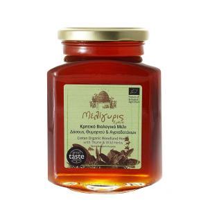 Κρητικό Μέλι Δάσους Θυμαριού Αγριοβοτάνων | Φυσικό Ελληνικό Άθερμο ΒΙΟ 800g | Μελίγυρις