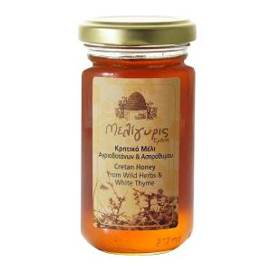Cretan Honey from Wild Herbs and White Thyme 270g | Natural Greek Unheated | Meligyris