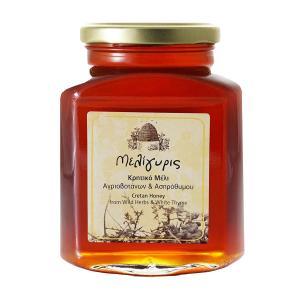 Κρητικό Μέλι Αγριοβοτάνων και Ασπρόθυμου | Φυσικό Ελληνικό Άθερμο 800g | Μελίγυρις