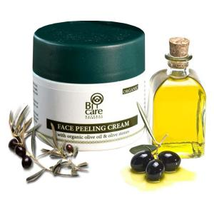 Bi-Care Face Peeling Cream with Olive Stones 50ml - Efkarpia Farm