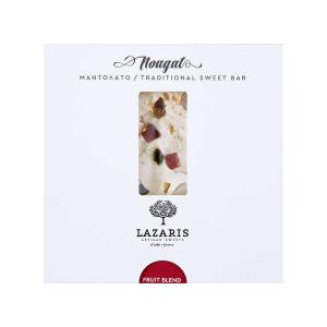 Lazaris Μαντολάτο με Φρούτα | Παραδοσιακό Χειροποίητο Γλύκισμα με Διάφορα Φρούτα 150g | Lazaris Distillery & Artisan Sweets