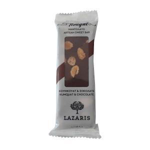 Lazaris Μαντολάτο Σοκολάτα & Κουμ Κουάτ 50g - Lazaris Distillery & Artisan Sweets