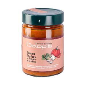 Tomato sauce with garlic & basil 350g - Dolopia