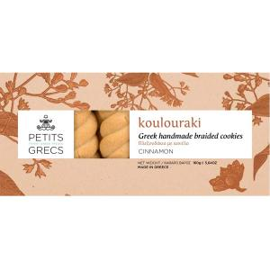 Petits Grecs Koulouraki with Cinnamon 160g - Petits Grecs