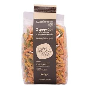 Gemmeli with Tomato, Carrot & Spinach 360g | Traditional Greek Pasta | Dolopia
