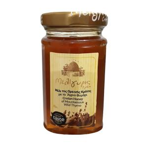 Cretan Honey from Wild Thyme 300g | Natural Greek Unheated | Meligyris