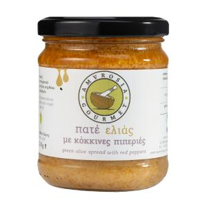 Pate Green Olives with Sweet Red Peppers 200g - AG