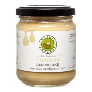 Hummus Mediterranean 200g | Spread made with Chickpeas and Tahini | Amvrosia Gourmet