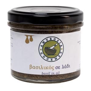Basil in Oil 100g - Amvrosia Gourmet