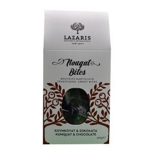 Lazaris Μπουκιές Μαντολάτο Σοκολάτα & Κουμ Κουάτ 160g - Lazaris Distillery & Artisan Sweets