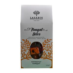 Lazaris Μπουκιές Μαντολάτο Κουμκουάτ 160g - Lazaris Distillery & Artisan Sweets