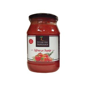 Tomato Sauce with Thyme 420g | Traditional Homemade | Genna tin Paradosi