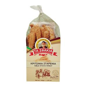 Breadsticks with Sesame 140g | Handmade Snack from Crete | Ta Sfakia