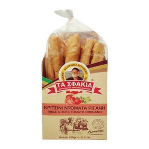 Κριτσίνια με Ντομάτα και Ρίγανη 230g | Χειροποίητα Κρητικά Κριτσίνια | Φούρνος Βοτζάκη Τα Σφακιά