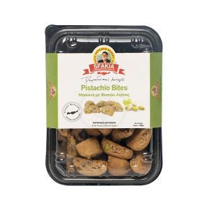 Μπουκιές με Φυστίκι Αιγίνης  220g | Χειροποίητα  Κρητικά Μπισκότα με Φυστίκι | Φούρνος Βοτζάκη Τα Σφακιά