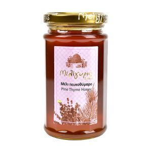 Cretan Honey from Pine and Wild Thyme 300g | Natural Greek Unheated | Meligyris
