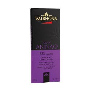 Dark Chocolate Abinao 85% Bar 70g | Powerful and Tannic Taste | Valrhona