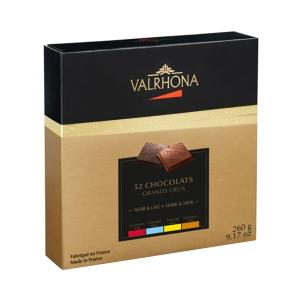 Coffret Decouverte 52 Carres 260g | Gift Box with 52 Squares of Dark Grand Cru Chocolate | Valrhona