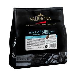 Μαύρη Σοκολάτα Caraibe 66% σε Κόκκους (Beans) 1Κg | Πλούσια Γεύση και Ισορροπημένη Γλυκύτητα | Valrhona