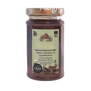 Κρητικό Μέλι Δάσους Θυμαριού Αγριοβοτάνων | Φυσικό Ελληνικό Άθερμο ΒΙΟ 300gr | Μελίγυρις