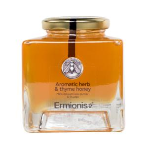 Ermionis | Honey from Aromatic Herbs with Thyme 400g |Greek Natural  | Bairaktaris Apiary