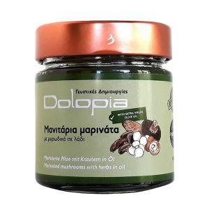 Μανιτάρια Μαρινάτα με Μυρωδικά σε Λάδι 200g - Dolopia