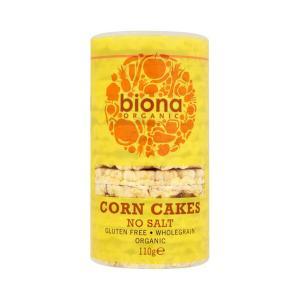 Corn Cakes Νo Αdded Salt 110g - Biona Organic