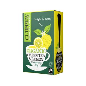 Βιολογικό Πράσινο Τσάι με Λεμόνι Χωρίς Ζάχαρη (20 φάκ.) 40g | Clipper