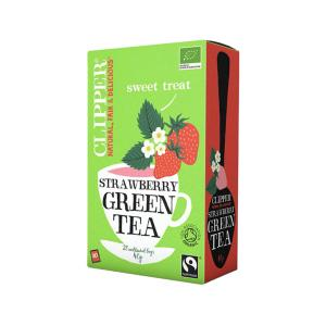 Green tea with Strawberry 20 sachets - Clipper
