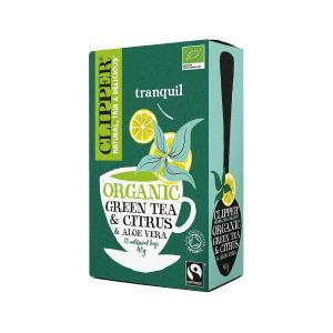 Βιολογικό Πράσινο Τσάι με Αλόη Χωρίς Ζάχαρη (20 φάκ.) 40g | Clipper
